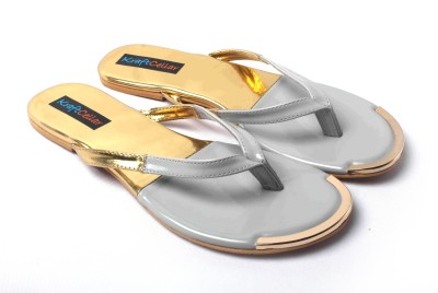 Kraft Cellar Grey Gold Duo Metal Insert Women Grey Flats