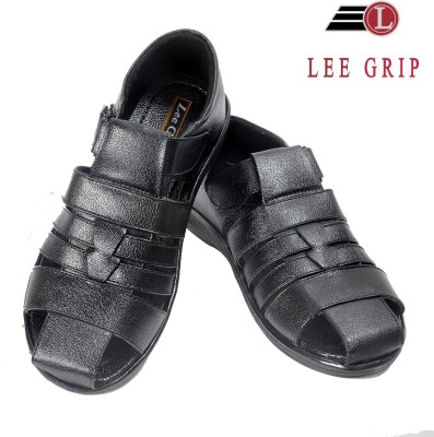 Lee Grip Men Black Sandals