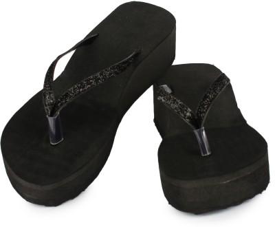 Moonwalk Women Black Wedges