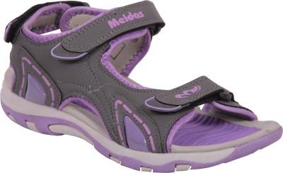 Meldas Stella Women Grey, Purple Sports Sandals