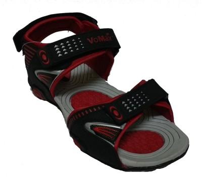 VoMax Men Black, Red Sandals