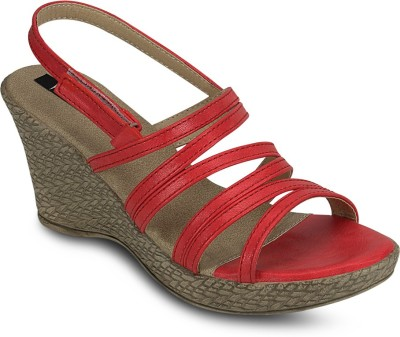 Kielz Women Red Wedges at flipkart