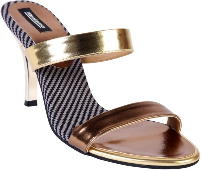 karizma shoes Women Gold Heels