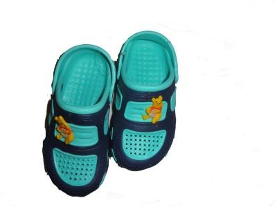 Pu-asmaa Boys, Girls Navy, Green Sandals