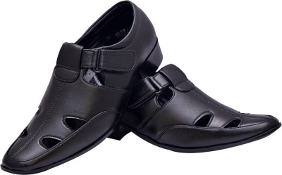Shoe Bucket Men Black Sandals