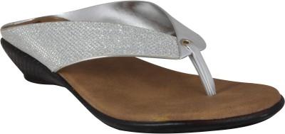XQZITE Women Silver Flats