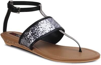 Get Glamr Stylish Women Black Flats