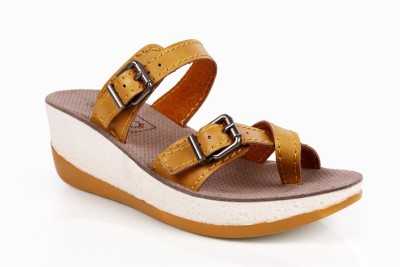 INTOTO Women Yellow Wedges