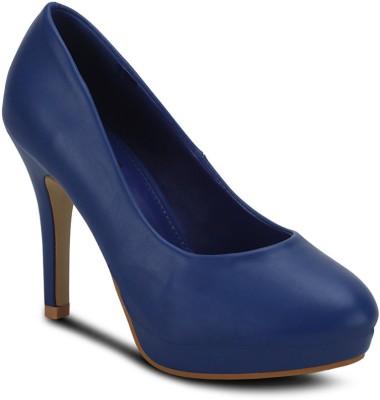Get Glamr Glance Girls Blue Heels