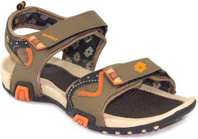 Lotto Men Brown, Orange Sandals