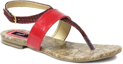 GISOLE Women Red Flats