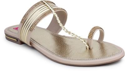 Queen Steps Women Gold Flats