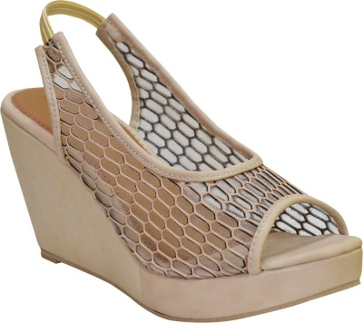 Apick Women Beige Wedges