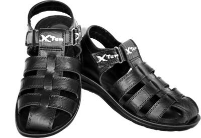 Xten Men Black Sandals