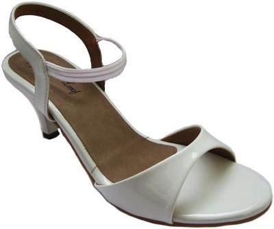 Mapple Leeaf Women White Heels