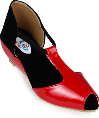 2B Collection Red Women Red Wedges