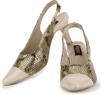 Naisha Women Beige Heels