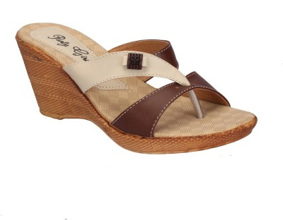 Party Girl Women Tan Wedges