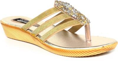 Just Flats Women Gold Flats