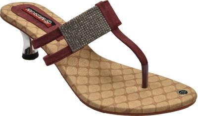 indirang Women Maroon Heels