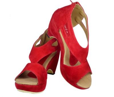 Canvera Girls Red Heels