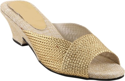 Shoestory Women Gold Wedges