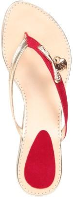Fiorella Women Red Flats