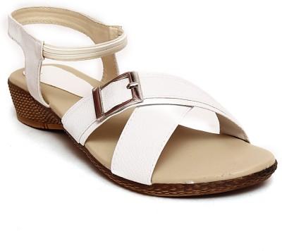 Trendy Women White Wedges