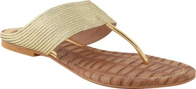 Ncollections Women Gold Flats