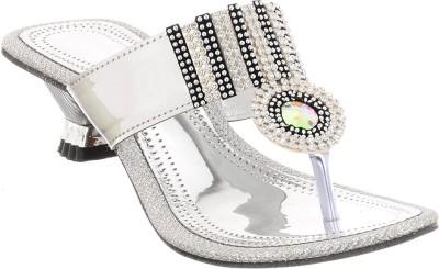 Brandvilla Women Silver Heels