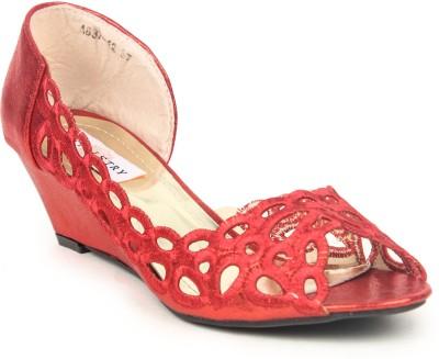 Stylistry Women Women Red Wedges