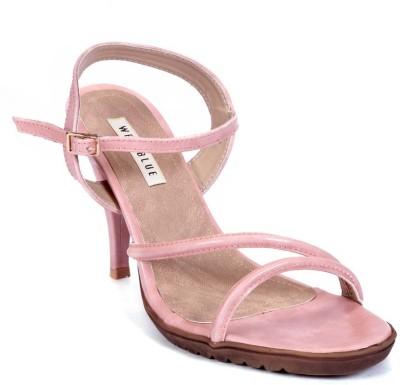 Wet Blue Women Pink Heels