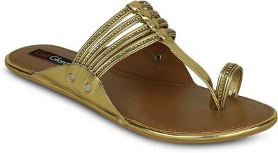 Get Glamr Women Gold Flats