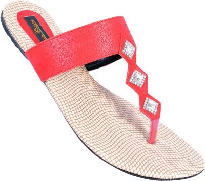 WALKAWAY Women Red Flats