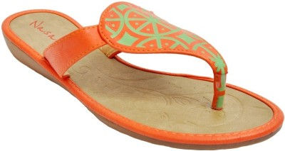 Naysaa Women Orange Flats