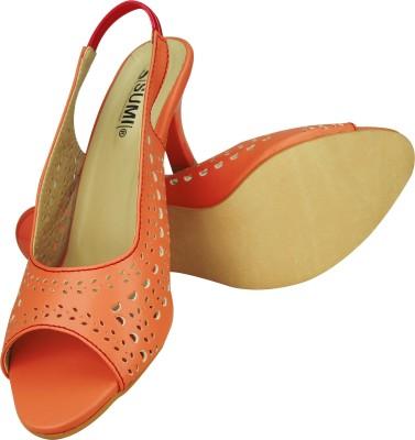 SUMI Collections Women Orange Heels