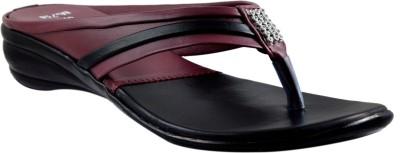 Supreme Leather Women Black Flats