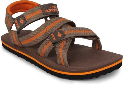 Adreno Men Brown, Orange Sandals