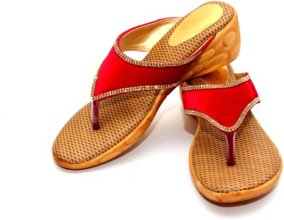 Stylish Step Women Red Wedges