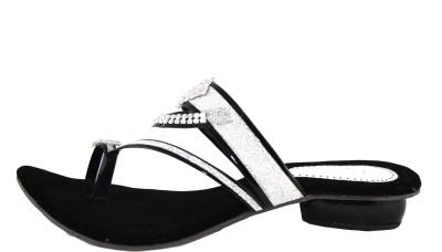 Kala Sanskriti Women Black, Silver Heels
