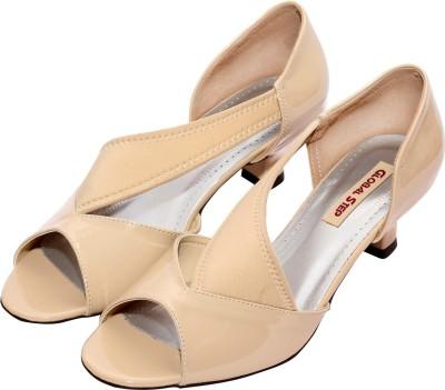 Global Step Women Beige Heels