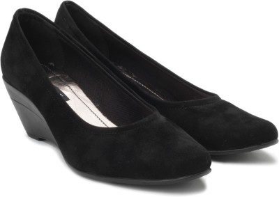 Inc.5 Women Black Wedges at flipkart