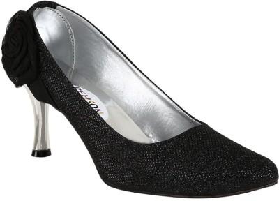 Stylish Step Women Black Heels