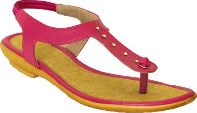 Hansx Women Pink Flats