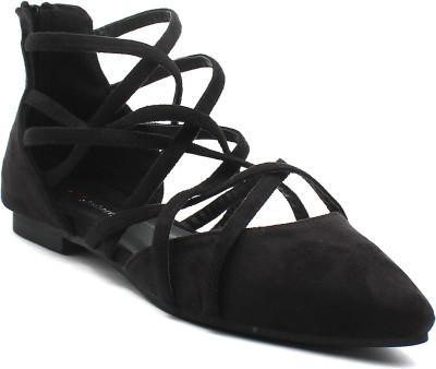 Shuberry Women Black Flats