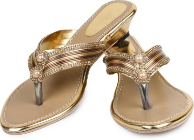 ZAAK Women Gold Flats