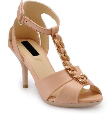 Fashionwalk Women Beige Heels