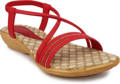 Ortan Girls Red Flats