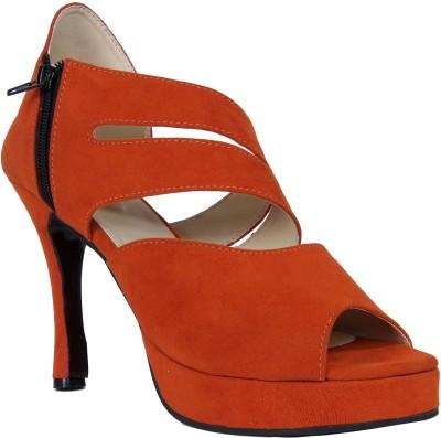John Sparrow Women Orange Heels