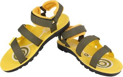 Super Matteress Brown-825 Men Yellow Sandals
